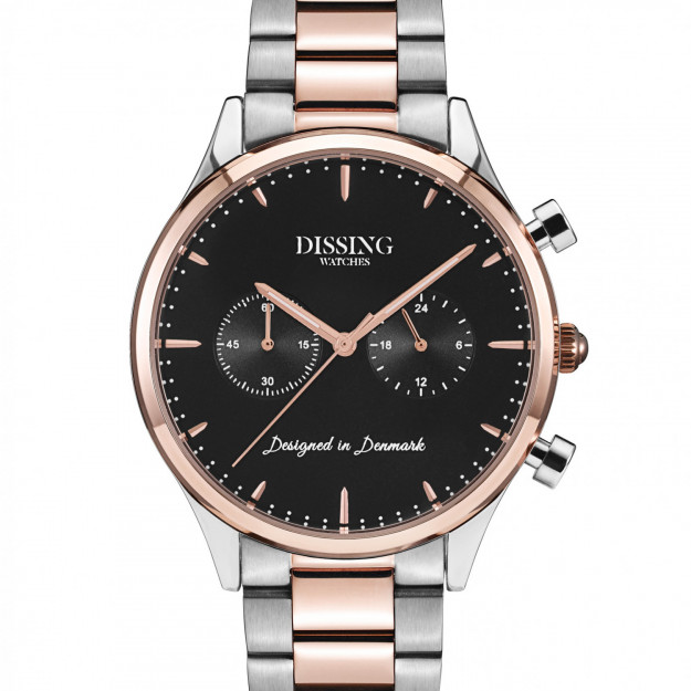 Dissing Steel Two Tone Rose Gold/Black-30