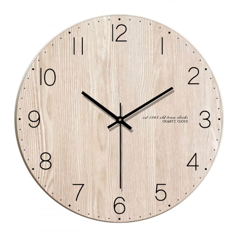 Wall Clock Light Brown Wood 30 cm-35