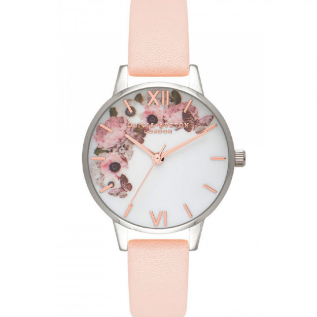 Olivia Burton Floral Peach Silver And Rose Gold-35
