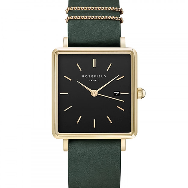 Rosefield The Boxy Black Forrest Green Gold-30