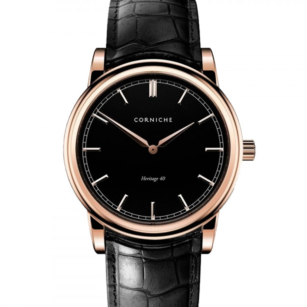 Corniche Men's Heritage 40 Rose Gold with Black Dial-30