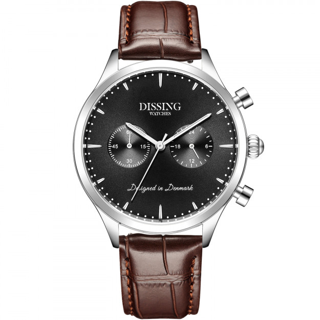 Dissing Brown Leather Silver/Black-31