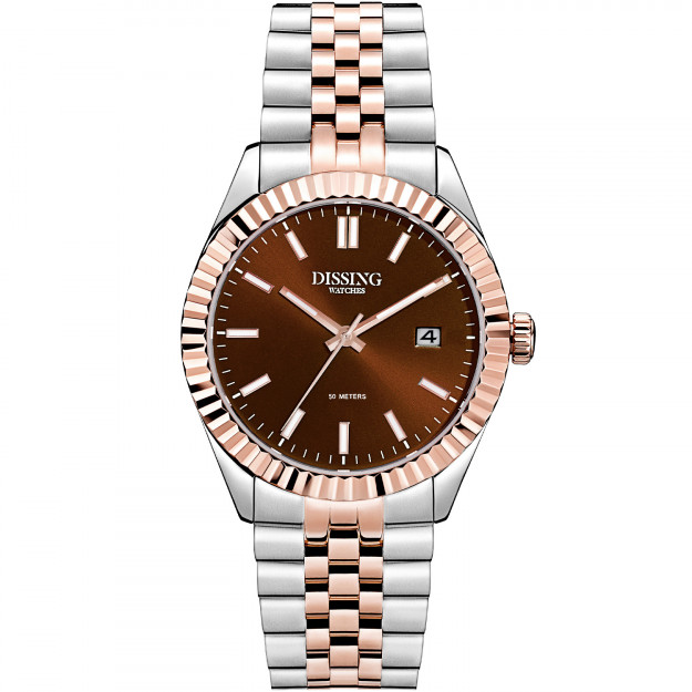 Dissing Date 36 Two Tone Light Rose Gold/Chocolate Brown-31