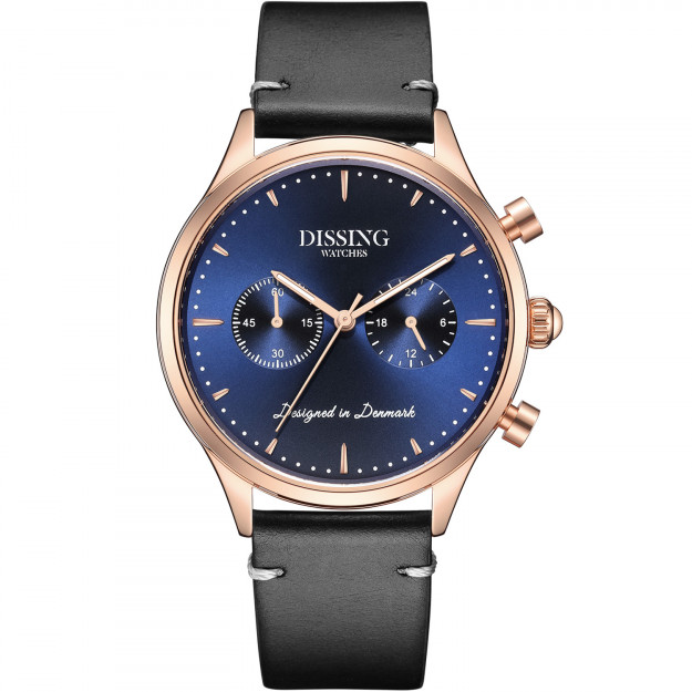 Dissing Italian Leather Blue Rose Gold-31
