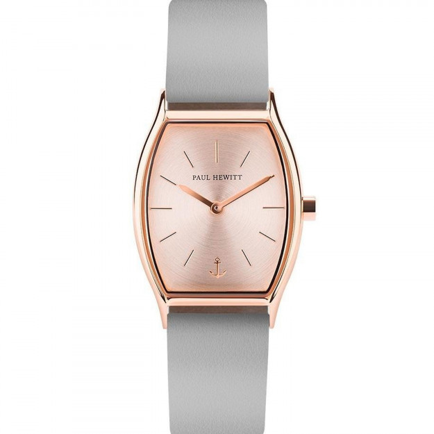 Paul Hewitt Rose Sunray IP Rose Gold Leather Watch Strap Graphite-35