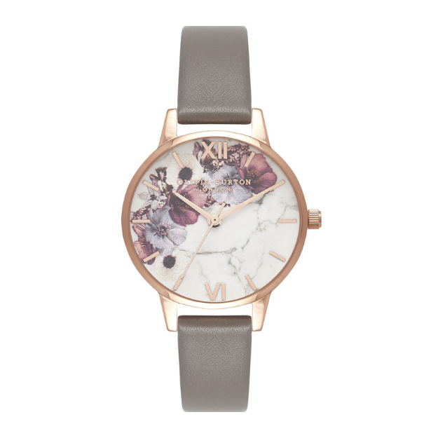 Olivia Burton Marble Floral London Grey and Rose Gold-30