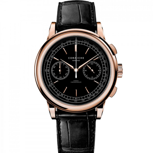 Corniche Heritage Chronograph Rose Gold with Black dial-30