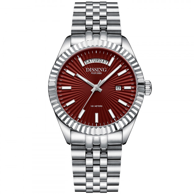 Dissing Day Date Steel Red-31