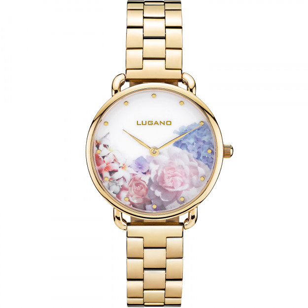 Lugano Gold Steel Floral-31