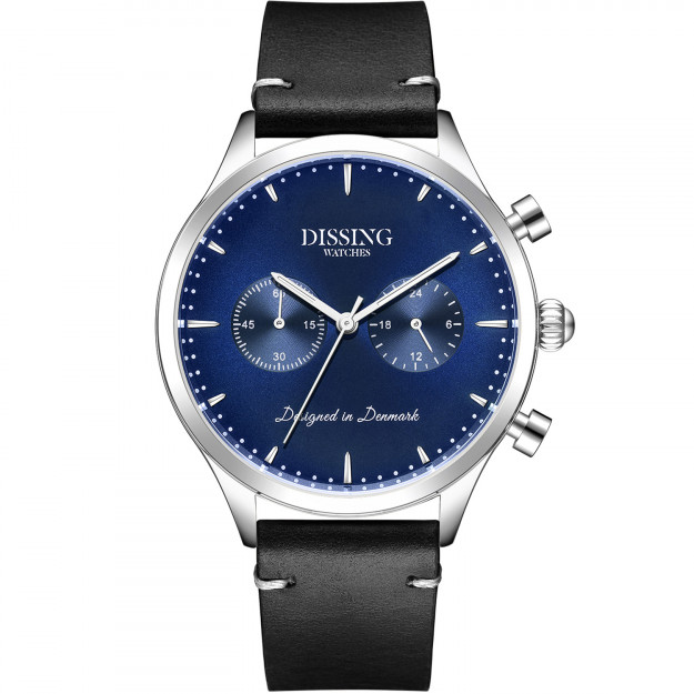 Dissing Italian Leather Silver/Blue-31