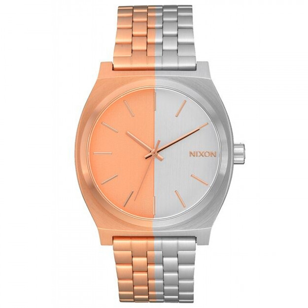 Nixon Time Teller Rose Gold And Silver-30
