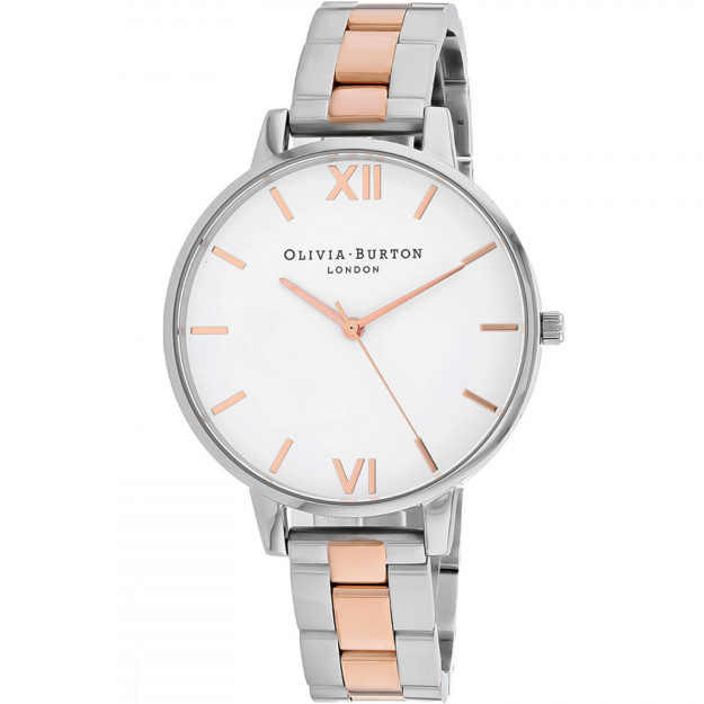 Olivia Burton White Dial Bracelet Silver and Rose Gold-35