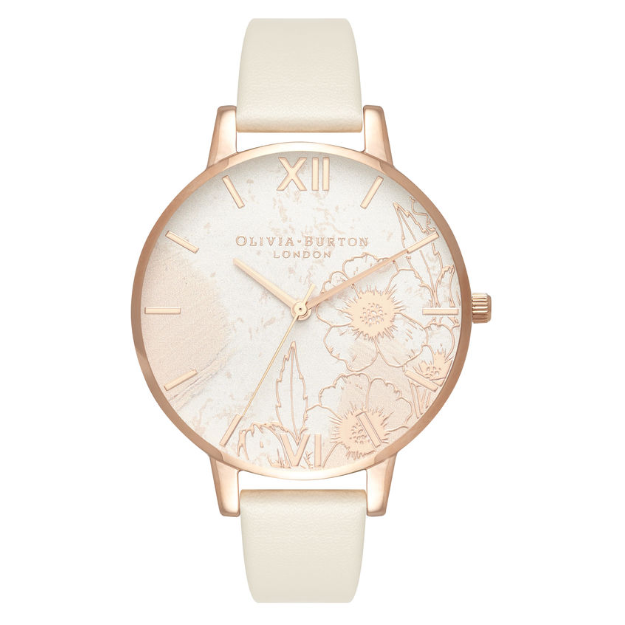 Olivia Burton Abstract Florals Vegan Nude and Rose Gold-30