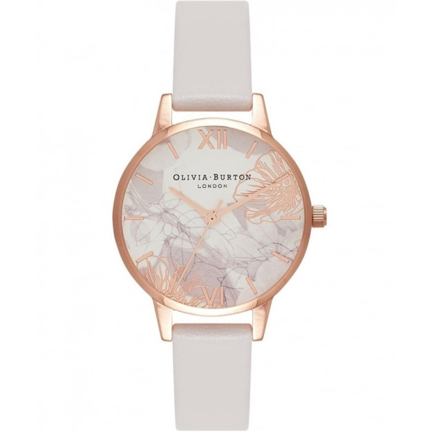 Olivia Burton Abstract Florals Blush and Rose Gold-35