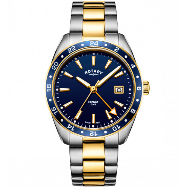 Rotary Gents Two Tone Gold PVD GMT Henley GB05296/05-30