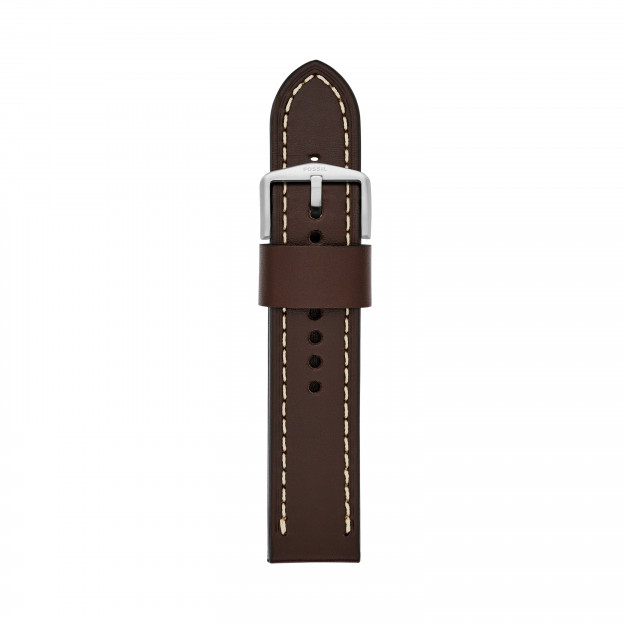 Fossil Leather Strap Dark Brown 22 mm S221242-32