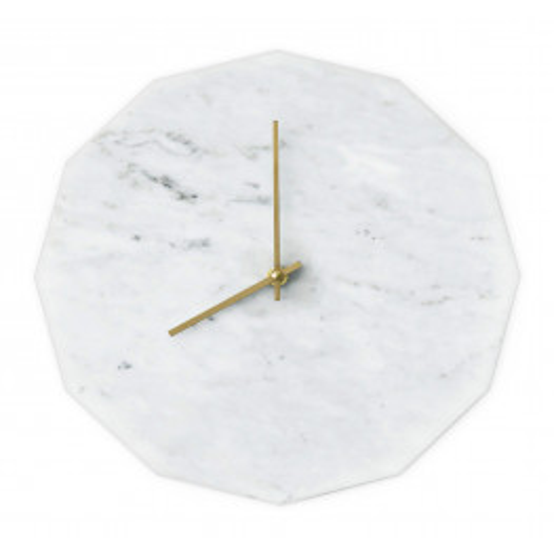 Tidsløs Marble Bianco Clock 28 cm-010