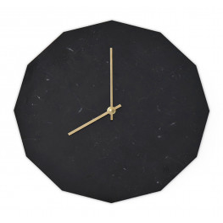 Tidsløs Marble Nero Clock 28 cm-010