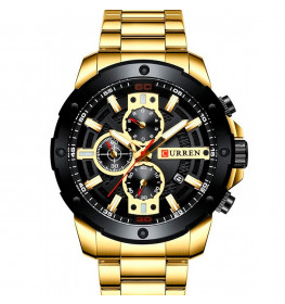 Curren Chrono Gold/Black-067