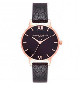 Midi Dial Black And Rose Gold Watch-024