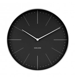 Karlsson Wall clock Normann station (Sort)-072