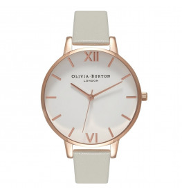 Olivia Burton Big Dial Grey and Rose Gold-04