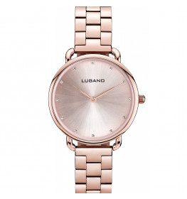Lugano Rose Gold Steel-039