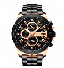 Curren Chrono Black/Gold-062