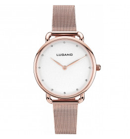 Lugano Rose Gold Mesh White-032
