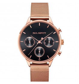 Paul Hewitt Everpulse Line Black Sunray Rose Gold Mesh-016