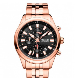 Megir Chronograph Rose Gold/Black-026
