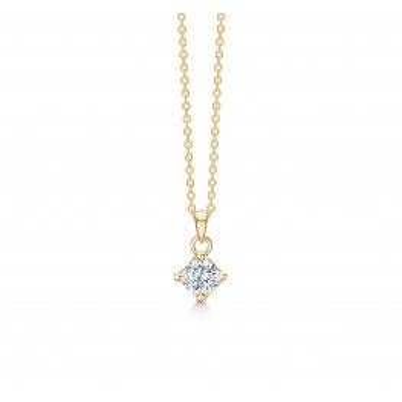 Mads Z Crown halskæde 14 kt. Guld m. 0,50ct.-010
