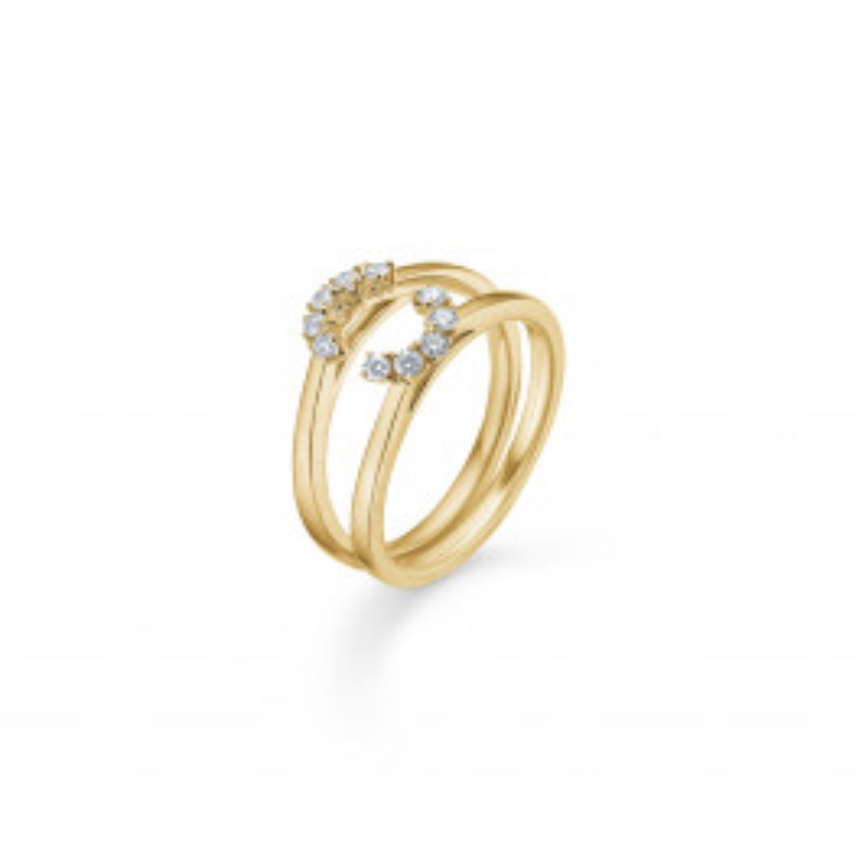 Mads Z Crown Tiara Ring 14 kt. Guld m. 0,20 ct.-07