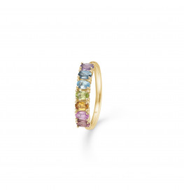 Mads Z Poetry Rainbow Ring 14 kt. Guld and Ædelsten-04