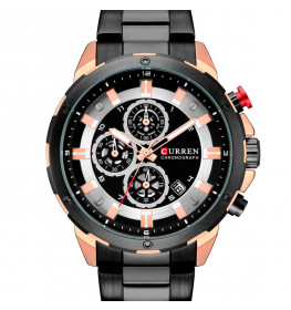 Curren Chrono Master Black/Rose Gold Steel-080