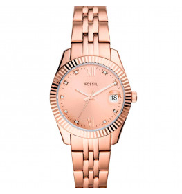 Fossil Scarlette Mini Three-Hand Date Rose Gold-Tone ES4898-045