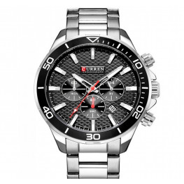 Curren Luxury Steel/Black-055