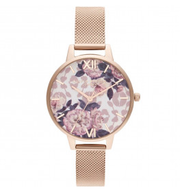 Olivia Burton Flower Pale Rose Gold Mesh-03