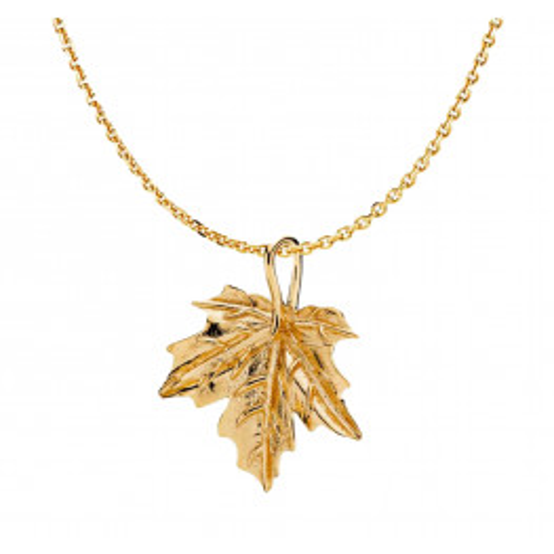 Izabel Camille Basic Chain Halskæde Shiny Gold-04