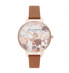 Marble Florals Honey Tan and Rose Gold-021