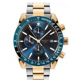 Dissing Chrono Two Tone Steel Blue/Gold-026