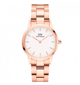 Daniel Wellington Iconic Link 28 Rose Gold White ADW00100213-043