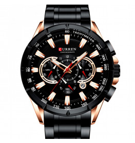 Curren Sports Chronograph Black-071