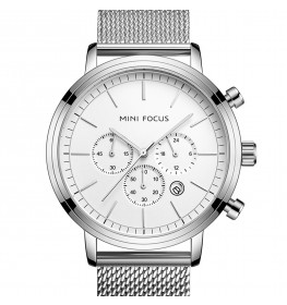 Megir Mini Focus White Silver Mesh-028
