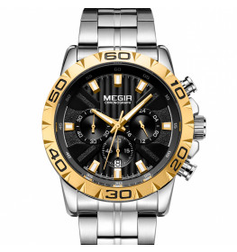 Megir Chronograph Steel/Gold-044