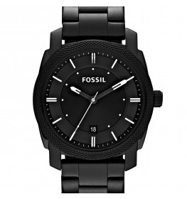 Fossil Machine Black Stainless Steel FS4775-08