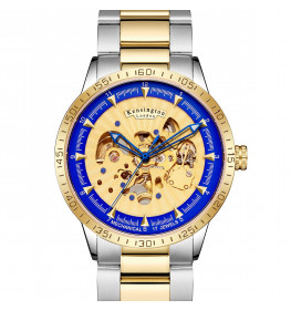 Kensington London Automatic Steel Gold/Silver/Blue-064