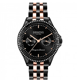 Dissing Ladies Steel Black/Rose Gold-041