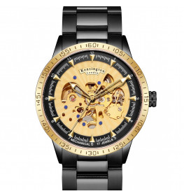 Kensington London Automatic Steel Gold Bezel-057