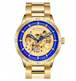 Kensington London Automatic Steel Blue/Gold-061